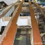 Refit einer Boesch 590 St. Tropez in der Werfthalle der Bootswerft Baumgart in Dortmund