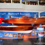 Lacustre Segelyacht auf dem Messestand der Boot in Düsseldorf nach durchgeführtem Refit in der Bootswerft Baumgart