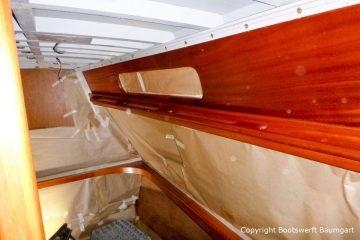 Refit des Innenraums einer Vilm 106 in der Bootswerft Baumgart in Dortmund