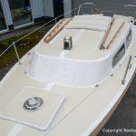 Jaguar 22 Segelkajütboot nach durchgeführter Reparatur auf dem Werftgelände der Bootswerft Baumgart in Dortmund