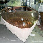 Restauration eines Boesch Junior Motorboots in der Werfthalle der Bootswerft Baumgart in Dortmund