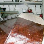 Restauration eines Kielzugvogel in der Werfthalle der Bootswerft Baumgart in Dortmund