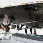 Propeller der Riva Super Aquarama nach der Bergung durch die Bootswerft Baumgart
