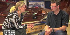 Das Lokalfernsehen des WDR zu Gast in der Bootswerft Baumgart in Dortmund und im Gespräch mit Stefan Baumgart.